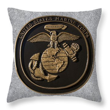 Us Marine Corps Throw Pillow