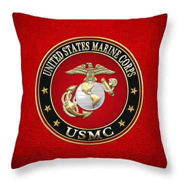 U. S. Marine Corps - U S M C Emblem Special Edition Throw Pillow