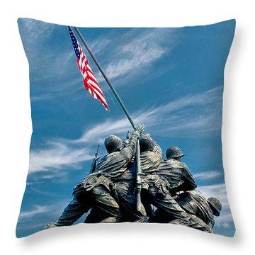 Us Marine Corps War Memorial Throw Pillow