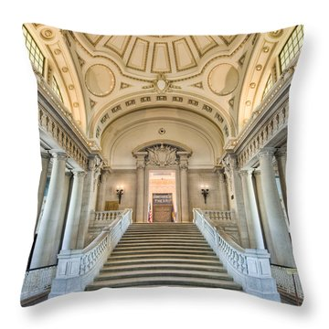 Us Naval Academy Bancroft Hall I Throw Pillow by Clarence Holmes