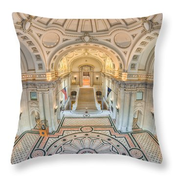 Us Naval Academy Bancroft Hall IIi Throw Pillow by Clarence Holmes