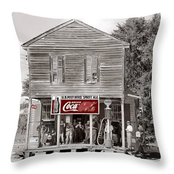 U.s. Post Office General Store Coca-cola Signs Sprott  Alabama Walker Evans Photo C.1935-2014. Throw Pillow by David Lee Guss