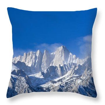 Usa, California, Mount Whitney Throw Pillow