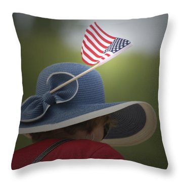 Usa Flags 04 Throw Pillow by Thomas Woolworth