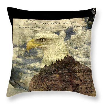 USA Throw Pillow by Jack R Perry