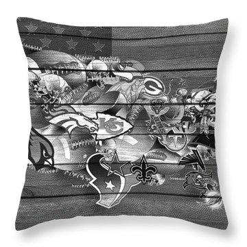 Usa Nfl Map Collage 11 Throw Pillow