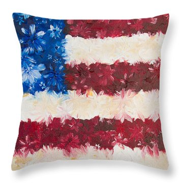 Usa Proud Throw Pillow