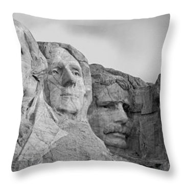 Usa, South Dakota, Mount Rushmore, Low Throw Pillow by Panoramic Images