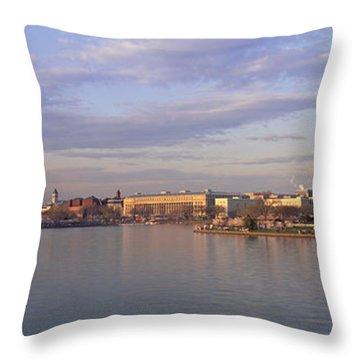 Usa, Washington Dc, Tidal Basin, Spring Throw Pillow by Panoramic Images