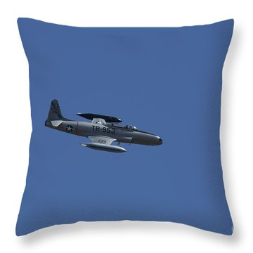 Usaf Lockheed T-33 'tr-953' Fly By Throw Pillow by D Wallace