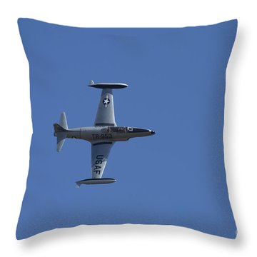 Usaf Lockheed T-33 'tr-953' Side Throw Pillow by D Wallace