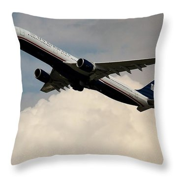 Usair Airbus Throw Pillow
