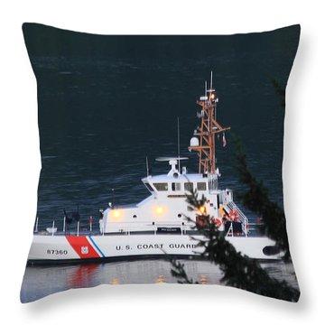 Uscgc Blue Shark Throw Pillow