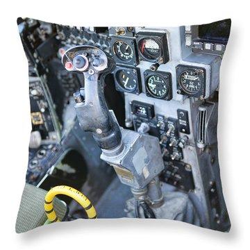 Usmc Av-8b Harrier Cockpit Throw Pillow by Olga Hamilton