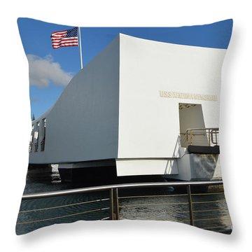 Uss Arizona Throw Pillow by Renie Rutten