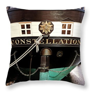 Uss Constellation Throw Pillow