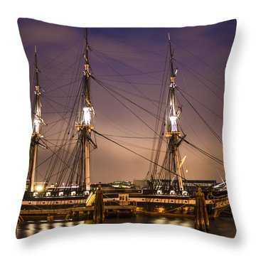 Uss Constitution Boston   Throw Pillow