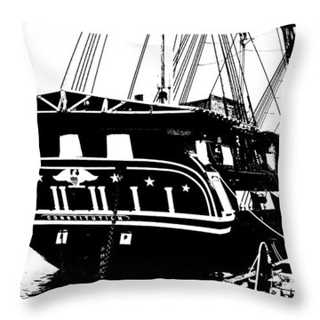 Uss Constitution Throw Pillow by Charlie and Norma Brock