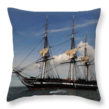 Uss Constitution - Featured In Comfortable Art Group Throw Pillow