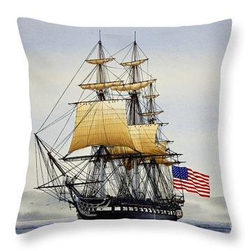 Uss Constitution Throw Pillow