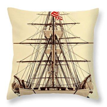 Throw Pillow featuring the photograph Uss Constitution by Nigel Fletcher-Jones