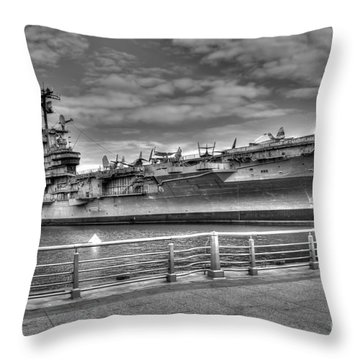 Uss Intrepid Throw Pillow