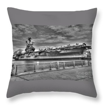 Uss Intrepid Throw Pillow by Anthony Sacco