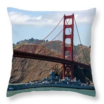 U.s.s. Iowa Up Close Throw Pillow