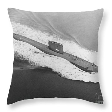 Uss Nautilus Worlds First Atomic Submarine Throw Pillow by Science Source