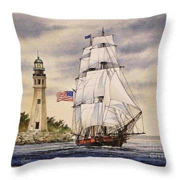 Uss Niagara Throw Pillow