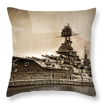 U.s.s. Texas Throw Pillow by Ken Smith