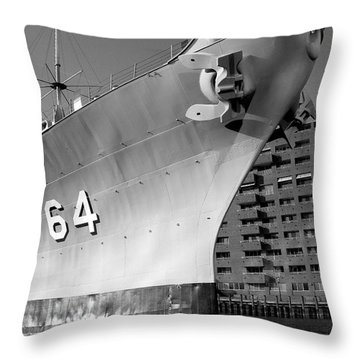 U.s.s. Wisconsin Throw Pillow by Rebecca Davis