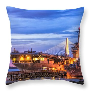 Uss Yorktown Museum Throw Pillow