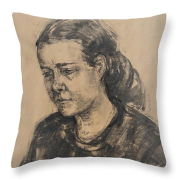 Uta Throw Pillow by Barbara Pommerenke