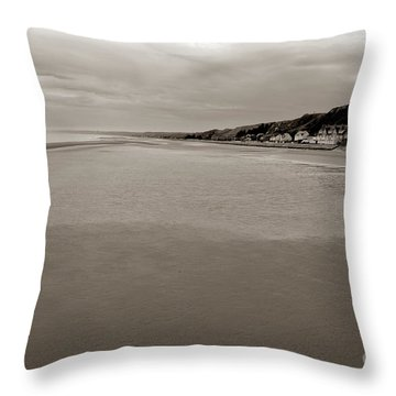 Utah Beach Throw Pillow by Olivier Le Queinec