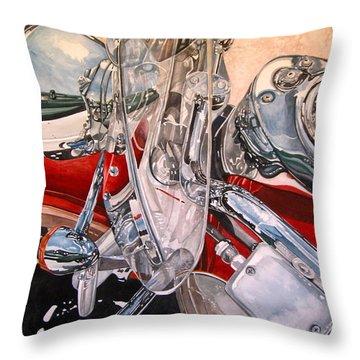Utah Chrome Throw Pillow by Lance Wurst