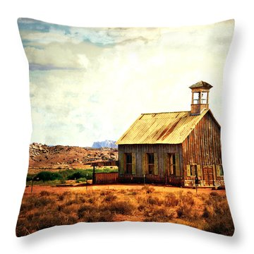 Utah Schoolhouse Throw Pillow by Marty Koch