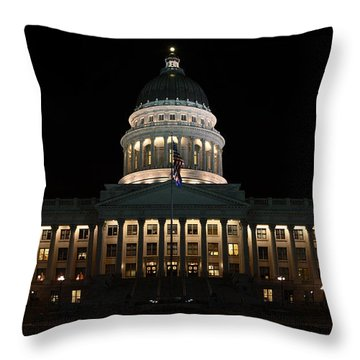 Utah State Capitol Front Throw Pillow
