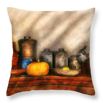 Utensils - Kitchen Still Life Throw Pillow by Mike Savad