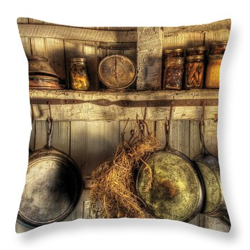 Utensils - Old Country Kitchen Throw Pillow