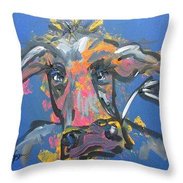 Utterly Funky Throw Pillow