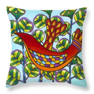 Uva De Mar Throw Pillow by Carla Bank