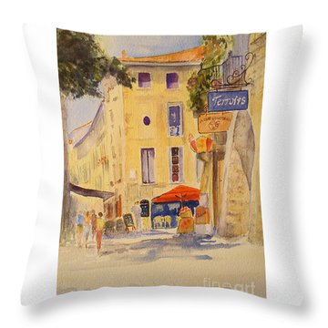 Uzes France Throw Pillow