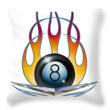 Throw Pillow featuring the painting V 8 by Alan Johnson
