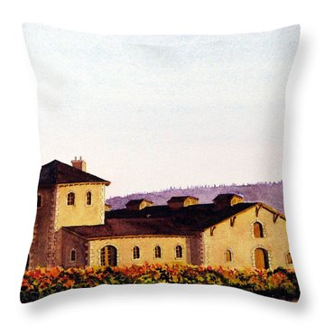 V. Sattui Winery Throw Pillow
