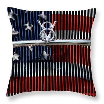 V8 Freedom Throw Pillow by Jani Freimann