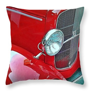 V8 Throw Pillow by Victor Montgomery