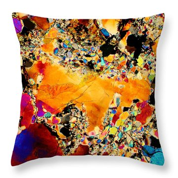 Goldon Nuggets From Space Throw Pillow