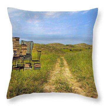 Vacancy  Throw Pillow by Betsy Knapp