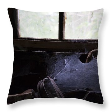 Vacancy  Throw Pillow by Rebecca Davis